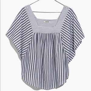 Madewell Butterfly Top in Stripe Play EUC XXS